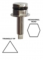 Torque Tip 6.3 Triangle Tip - Hex Head